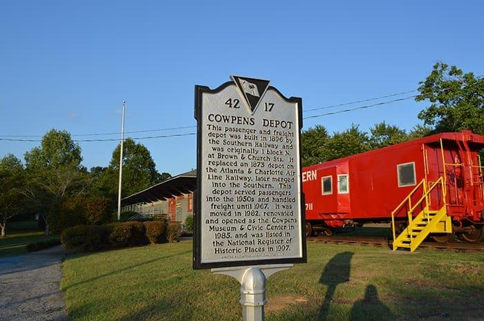 Town of Cowpens SC   Cowpens Depot