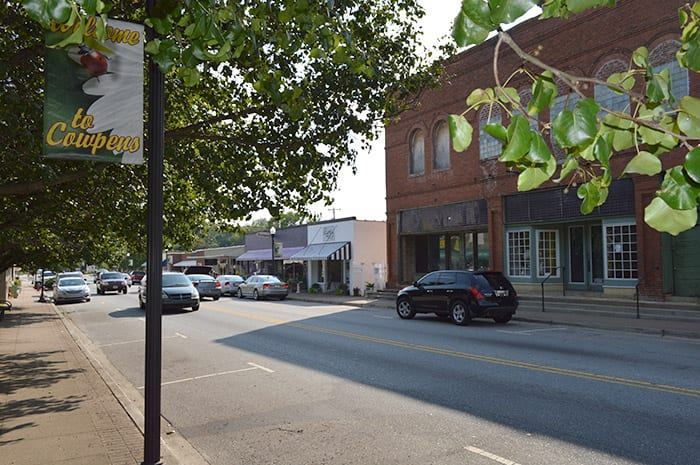 Town of Cowpens SC   downtown
