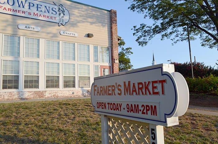 Town of Cowpens SC   Cowpens farmer's market