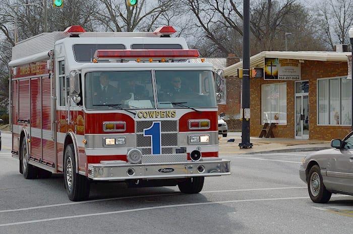 Town of Cowpens SC   Cownpens fire truck
